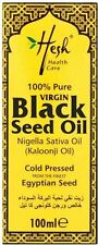 Hesh 100% Pure Virgin Cold Pressed Black Seed Oil (Nigella Sativa Oil) 100ml