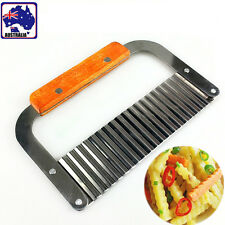 Potato Vegetable Wavy Cutter Knife Chip Crinkle Slicer Dough Scraper HKSHO 5012