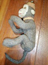 Antico Vecchio Pelouche Pupazzo Scimmia Tipo Steiff 1930