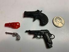 3 Miniature Toy Plastic Pistols, Derringer, Hong Kong  #20