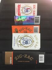 Zig Zag Paper Variety Paper Lot X 5 King Size, Kutcorners, Original, 1 1/4, Thin