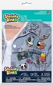 Shrinky Dinks D.I.Y Make Your Own Wearable Pins Color Shrink Craft Activity Kit