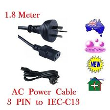 AC Power Supply Cord Lead Cable Australia 3 PIN To IEC-C13 Plug Computer 1.8 m