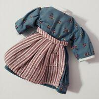 "AMERICAN GIRL DOLL CLOTHES KIRSTEN LARSON 6.5"" MINI DOLL BLUE MEET DRESS 1854"
