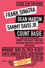 1963 Rat Pack Concert Poster