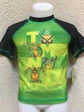 Nickelodeon Teenage Mutant Ninja Turtles Boys TMNT Rashguard Swim Tops 3T NEW