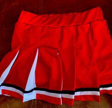 Varsity Youth Cheer Red White Black Cheerleading Uniform Skirt Small 4-6