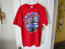 AMERICAN MUSCLE POWER CARS T SHIRT / SIZE L HOTROD CAMARO CAR GUY