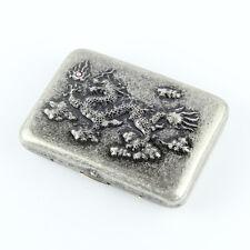 Collectable Vintage dragon pattern design smooth cigarette case holder box,CC16