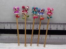 1:12 Hand Made Mickey (x 5) On A Stick Dolls House Miniature Nursery Toy