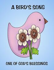 METAL REFRIGERATOR MAGNET Bird's Song One Of God's Blessings Bird Family Friend