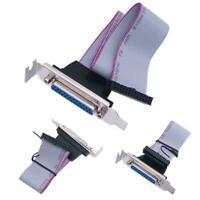 LPT1 Parallel Port Printer I/O Adapter DB25 to IDC 26Pin Slot Plate Header
