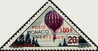"Monaco Air N°61 "" Stamps Tax, 100 F (50) "" New x TB"