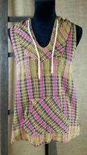 Maglie e camicie da donna senza maniche con cappuccio in cotone