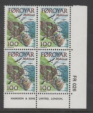 FAROE ISLANDS/FOROYAR 1978 100 ore MYKINES Corner Block of 4 MNH