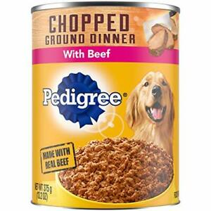 PEDIGREE Chopped Ground Dinner Wet Dog Food 13.2 oz. Cans Pack of 12