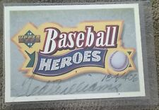 TED WILLIAMS UPPER DECK 1991 HOF BASEBALL HEROES COLLECTION AUTOGRAPH 184/406