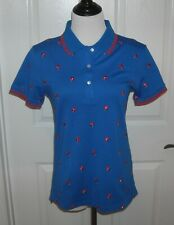 NWT Tory Burch Sport Women's Golf Short Sleeve Polo Shirt Size M Color Blue $158
