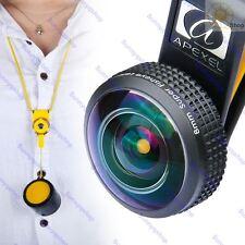 HD 238 Super Wide Angle Fisheye Lens Kits with Lanyard for iPhone i Pad Samsung
