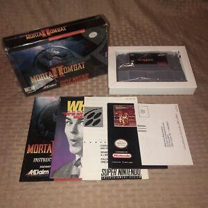 EX COND Mortal Kombat II 2 Super Nintendo SNES, Authentic Complete CIB Clean!