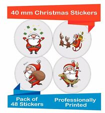48-Pack 40 mm Mixed Christmas present craft decorate your cards and gifts ch08
