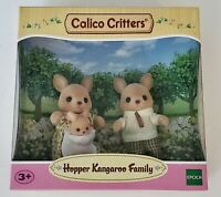 Calico Critters Hopper Kangaroo Family, 3 Poseable Figures NEW