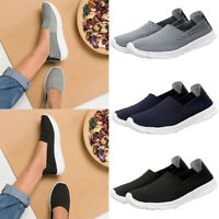 Womens Ladies Slip On Casual Woven Sneakers Artificial Leather Summer Shoes Size
