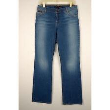 Dkny Womens Boot Cut Jeans Sz 13L Junior Stretch Medium Wash Denim Distressed