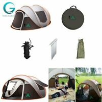 NEW 3-4 Person Camping Tent Waterproof Auto Setup UV Sun Shelters Outdoor Hiking