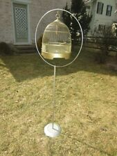 Vintage Hendryx Dome Bird Cage on silver/chrome stand - Vgc
