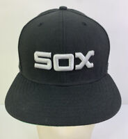 New Era 59Fifty Chicago White Sox Fitted Black Hat Cap Comiskey Park Patch 7 3/8