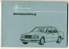W124 E 200 220 280 320  420 500  Betriebsanleitung Manual Mercedes-Benz  1993