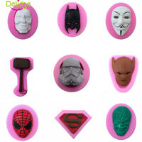 3D Mask Silicone Mold Fondant Cake Cupcake Sugarcraft Baking Decorating Tools