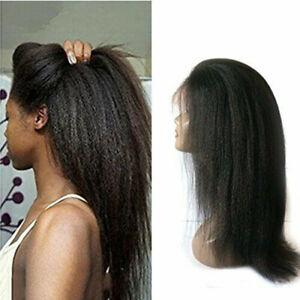 Best  Italian Yaki Lace Front  Wigs for Black Women Brazilian Remy Hair Glueless