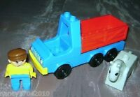 Lego Duplo LKW Figur  Pferde Transport  Horse Pferd Fahrer Figur Trailer  2628