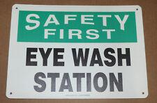 New Lot Of 2 Vinyl Safety First Eye Wash Station Sign Mfsad04 Mfsd982vs