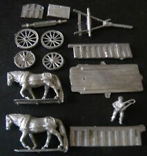 SGTS MESS HD2 1/72 Diecast Large Cart with 2 Horses and Driver