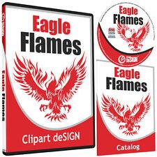 Eagle Flames Clipart Vinyl Cutter Plotter Clip Art Images Vector Cd