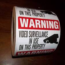 BULK STORE HOME SECURITY SYSTEM CAMERA WINDOW WARNING STICKERS