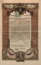 AUSTRIA:Austrian  War  Bond Vienna 1915 - 200 Crowns