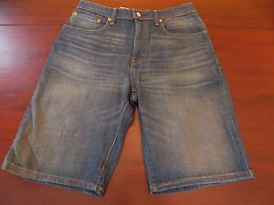 mens levi's 569 loose jeans shorts 31 nwt faded medium
