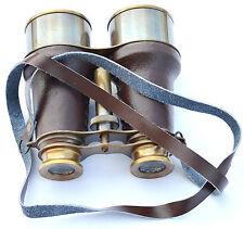 Brass Antique Nautical Binocular~Vintage Maritime Binocular With Leather Wrapped
