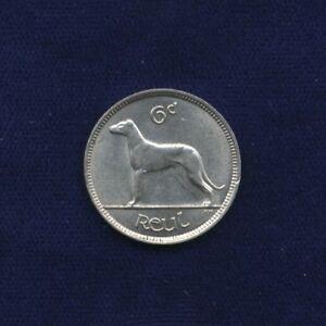 IRELAND  IRISH FREE STATE  1935   SIX PENCE COIN, BRILLIANT UNCIRCULATED