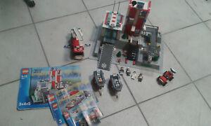 LEGO divers set   hopital 7892+7241+7239 +  personnages notices
