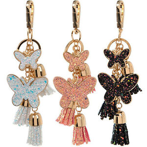 Butterfly Keyrings Blue For Mum Girls Girly Women Bag Gifts Keychain Collectable