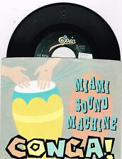 "Miami Sound Machine   Conga/ Mucho Money  P/S   Single   7""   45 RPM"