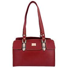 Genuine Leather Womens Handbag Red Ladies Purse Shoulder Bag Satchel