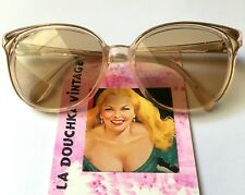 LANCEL 1960s WOMEN CAT EYE SUNGLASSES & LOGO~ MADE IN FRANCE ~ PERFECT CONDITION