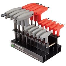 18 Pc SAE & Metric T Handle Allen Wrench Ball End Hex Key Set