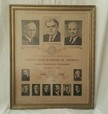 1940 UMWA Golden Anniversary Convention Poster Union United Mine Workers.